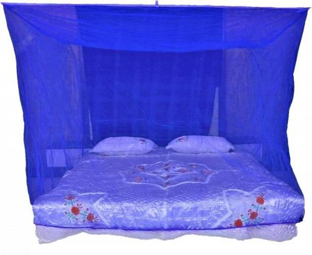 Raj Enterprise Nylon Adults DARK BLUE (7X7) KING SIZE Mosquito Net