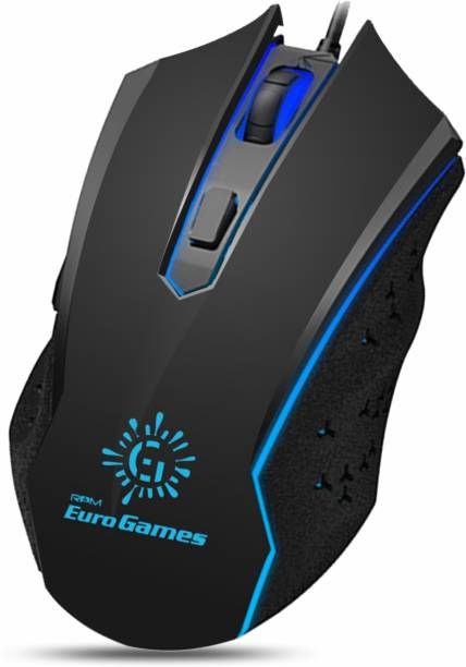 RPM Euro Games Premium Gaming Mouse 6 Buttons 4 Color RGB Lights 4 DPI Levels For Laptop, PC Wired Optical  Gaming Mouse