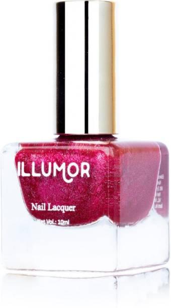 illumor Crushed Diamond Nail polish (Diva) Magenta