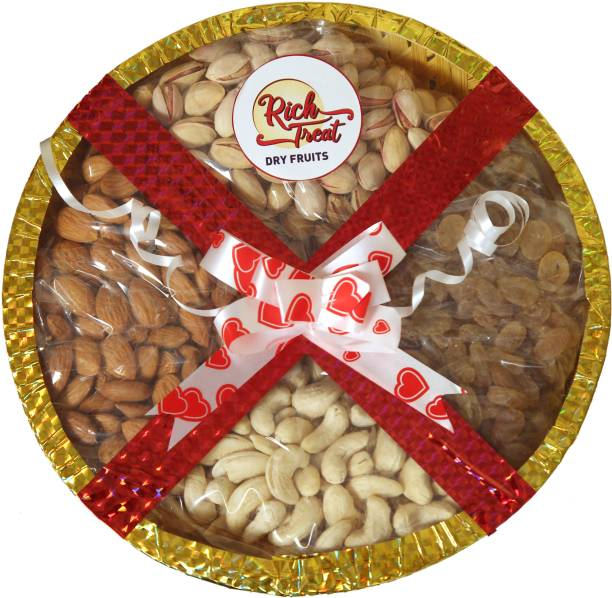 Rich Treat 100% Natural Premium Quality 4*250g Cashew Almond Rasins Pista Cashews, Almonds, Raisins, Pistachios