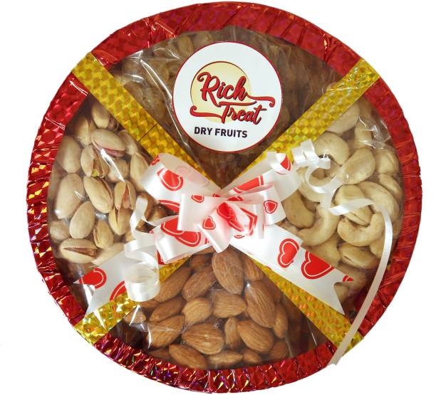 Rich Treat 100% Natural Premium Quality 4*100g Cashew Almond Rasins Pista Cashews, Almonds, Raisins, Pistachios