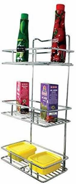 MOCHEN Multipurpose rack shelf with Bathroom Storage; Kitchen Storage Rack Shelf Multi-layer shelf Stainless Steel Wall Shelf