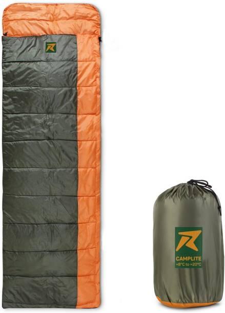 Rocksport Camplite Indoor & Outdoor Temp 8°C to 20°C, 1.1Kg (Orange & Army Green) Sleeping Bag