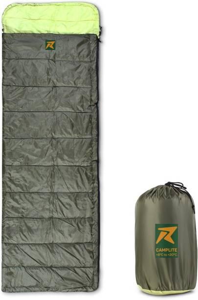 Rocksport Camplite Indoor & Outdoor Temp 8°C to 20°C, 1.1Kg (Army Green & Yellow) Sleeping Bag