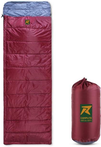 Rocksport Camplite Indoor & Outdoor Temp 8°C to 20°C, 1.1Kg (Maroon & Grey) Sleeping Bag