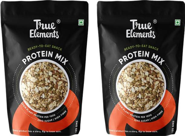 True Elements Protein Mix Roasted Pumpkin Watermelon Seeds,Almonds & Soyanuts,High in Protein