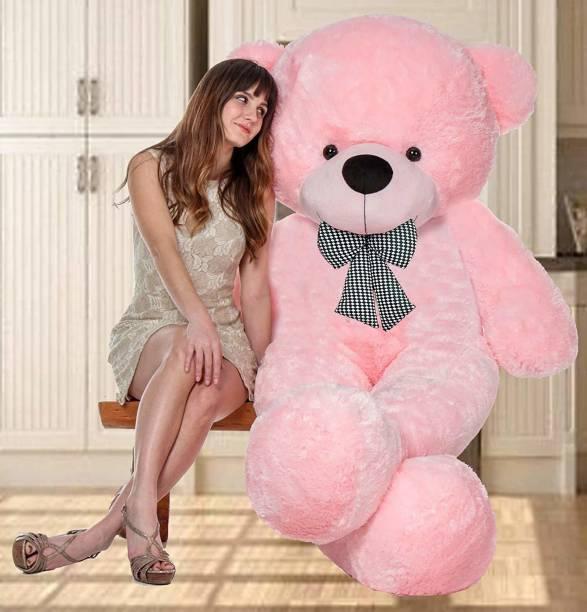 Teddy Weddy Big Dimand SOFT TOYS LOVER teddy bear pink colors size 4 feet very soft teddy bear - 120 cm (pink)  - 120 cm