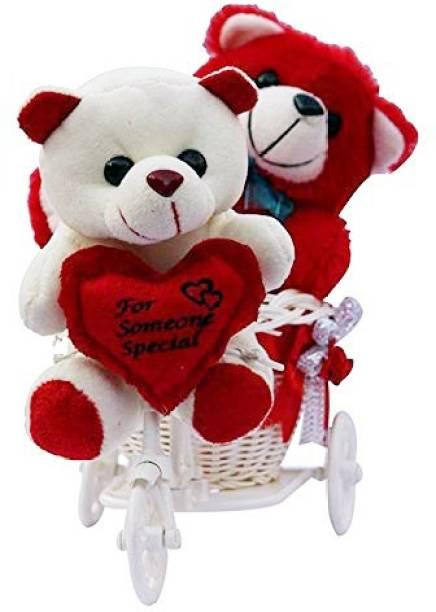 Saikara Collection Teddy Bear With Cycle  - 21