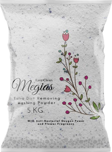 Megias EASY WASH 5KG MACHINE/HAND WASHING POWDER WITH FLOWER FRAGRANCE Detergent Powder 5 kg