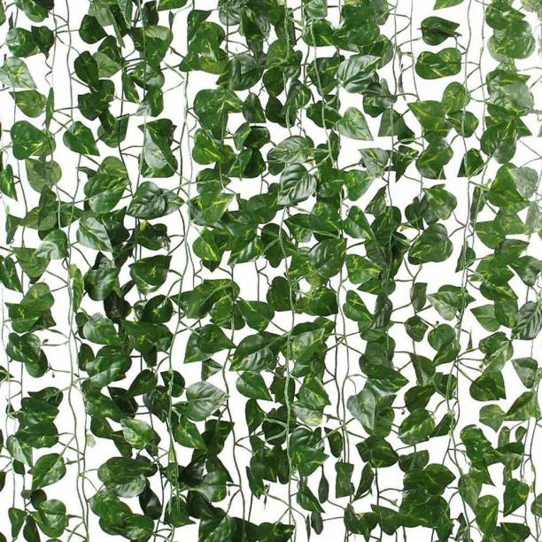 KIANO Artificial Vine Creeper Plants for Home Decor Main Door Wall Balcony Office Decoration Party Festival Craft, Contains 30 Leaves -Each String 7.2 ft ( Pack of 4 Strings) Artificial Plant