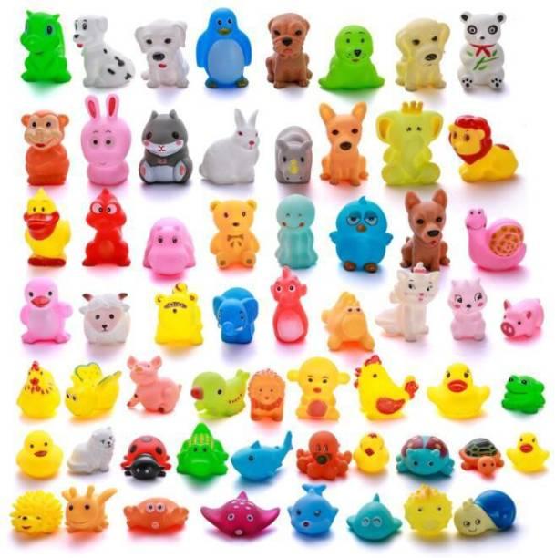 PRESENTSALE 12 pcs animal soft and cute bath chu chu toy for little kids Bath Toy