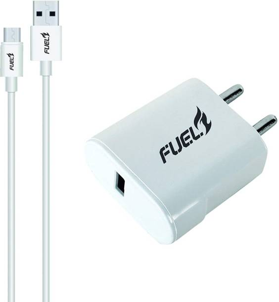 Fuel Bolt QC 3A Charger (Qualcomm Certified) with Quick Charge 3.0 + Free Micro USB Cable 10 W 3 A Mobile Charger with Detachable Cable