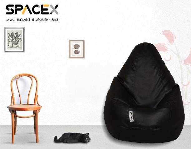 SPACEX XXL Elega Teardrop Bean Bag  With Bean Filling