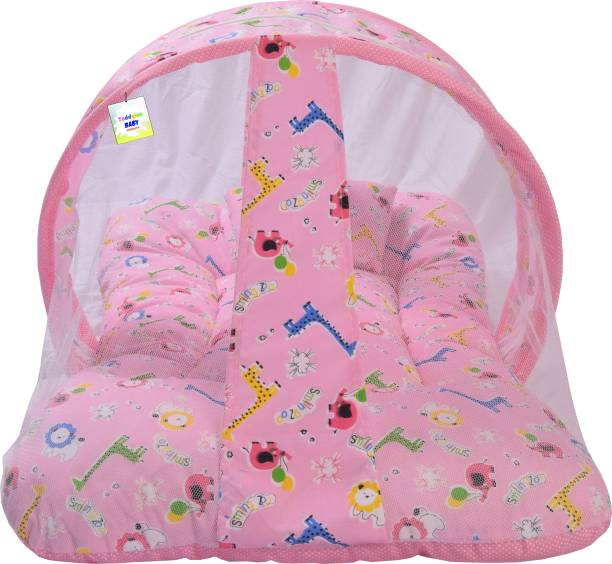 Toddylon Cotton Infants Cotton Baby Mosquito Net With Cushioned Pillow Mosquito Net