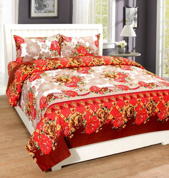 Supreme Home Collective 120 TC Polyester Double Printed Bedsheet