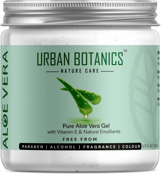UrbanBotanics Pure Aloe Vera Gel For Skin & Hair With Vitamin E & Natural Emollients (Paraben Free)