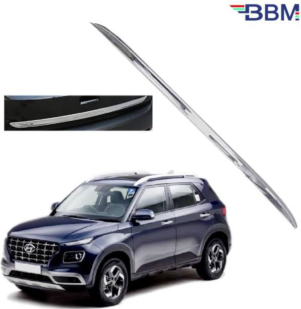 BBM Car Dicky Trim Garnish Silver Chrome Line Stainless Steel for Boot show compatible with Venue Chrome Hyundai NA Rear Garnish