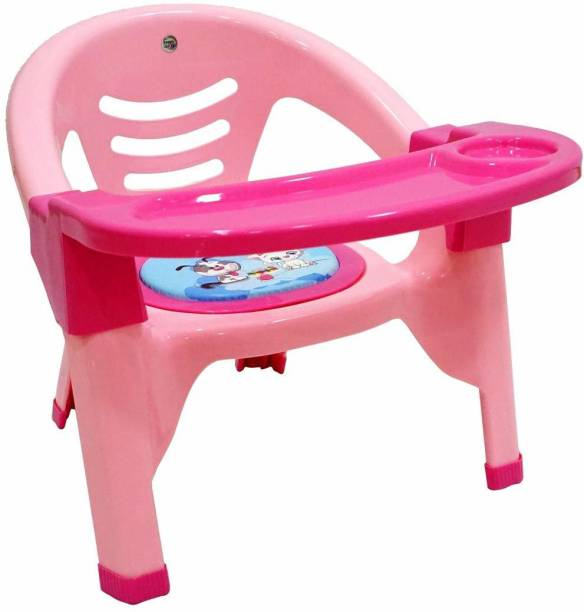 Miss & Chief Baby Chair with Tray Strong and Durable Plastic Chair for Kids/Plastic School Study Chair/Feeding Chair for Kids,Portable With Soft Cusion And Sound Whistle