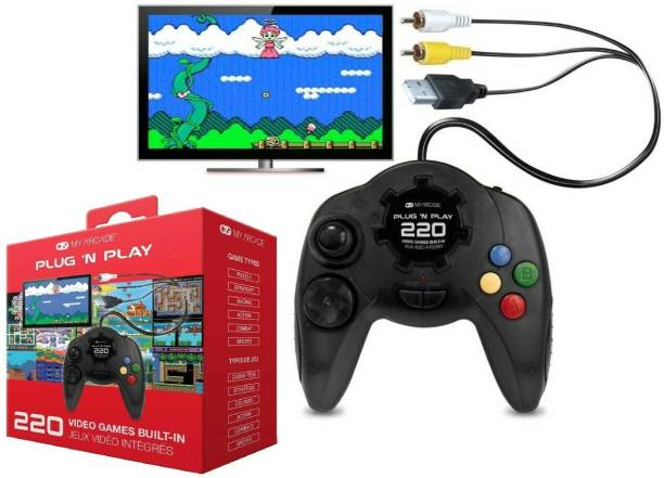 Plug n Play 220 in 1 8bit Video Game Pad Built In TV Game Direct AV Inputs Shooting, Puzzle, Racing, Action Etc Limited Edition