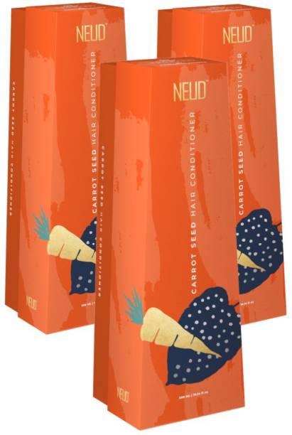 NEUD Carrot Seed Premium Hair Conditioner for Men & Women - 3 Packs (300ml Each)