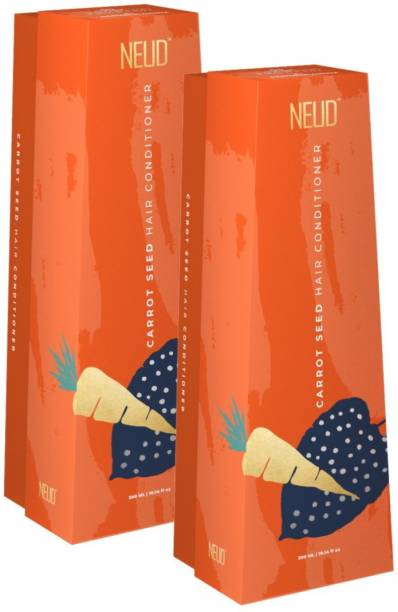 NEUD Carrot Seed Premium Hair Conditioner for Men & Women - 2 Packs (300ml Each)