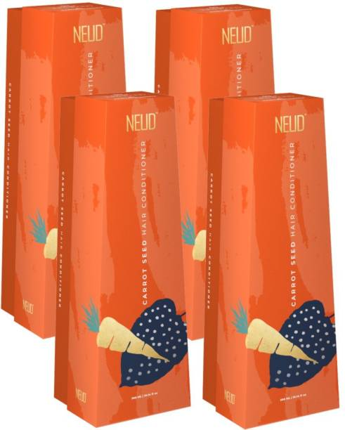 NEUD Carrot Seed Premium Hair Conditioner for Men & Women - 4 Packs (300ml Each)
