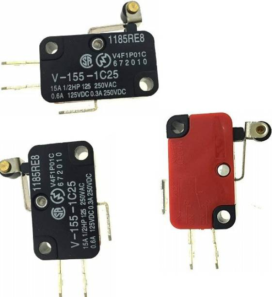 sl sales Micro Limit Switch Short Roller Lever V-155-1C25 Over Limit Switch (3-PCS) Programmable Electronic Timer Switch