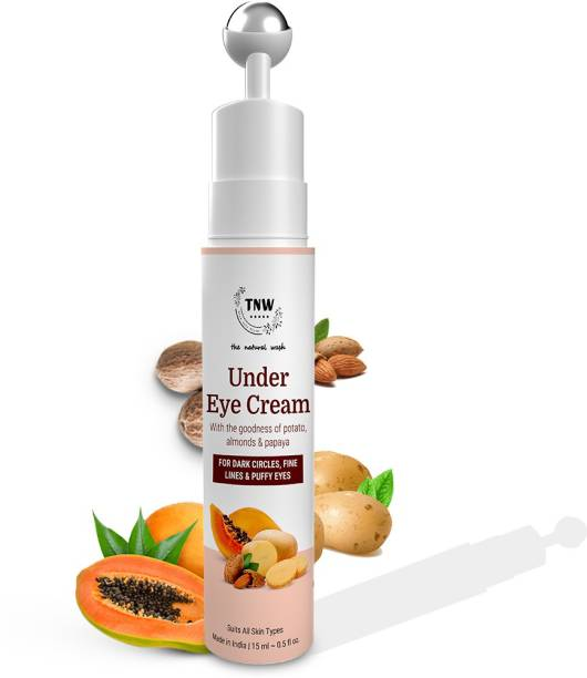 TNW- the natural wash Under Eye Cream With goodness of potato,almonds & Papaya for Dark Circles , Fine lines & Puffy eyes Suits all skin Types