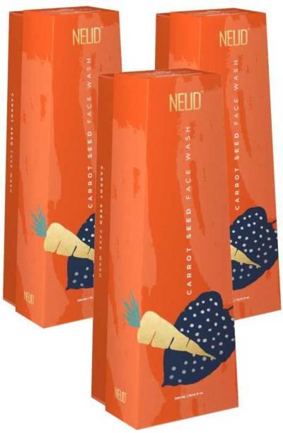 NEUD Carrot Seed Premium  for Men & Women - 3 Packs (300ml Each) Face Wash