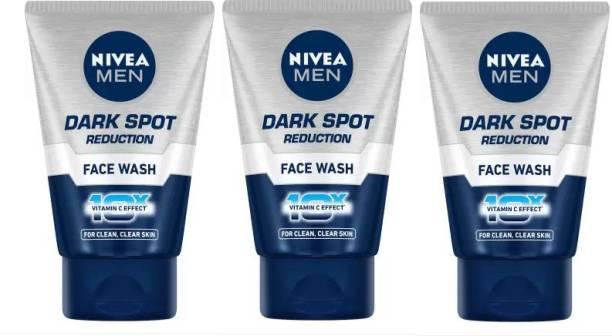 NIVEA Men dark Spot Reduction  ( 3 Pc x 100 g) Face Wash