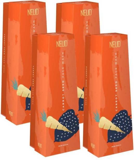 NEUD Carrot Seed Premium  for Men & Women - 4 Packs (300ml Each) Face Wash