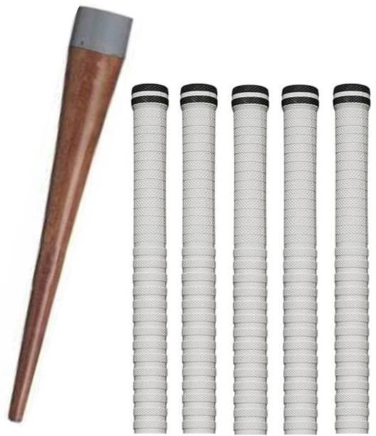 Raider Set of 5 Cricket Bat White grip + 1 wooden gripper (cone) Super Tacky