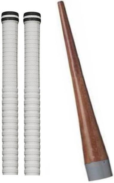 Raider Set of 2 Cricket Bat White grip + 1 wooden gripper (cone) Super Tacky