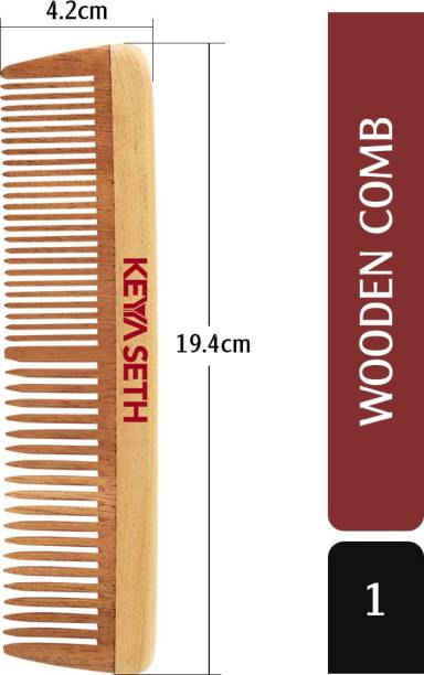 KEYA SETH AROMATHERAPY Neem Wooden Comb Wide Tooth for Hair Growth for Men & Women