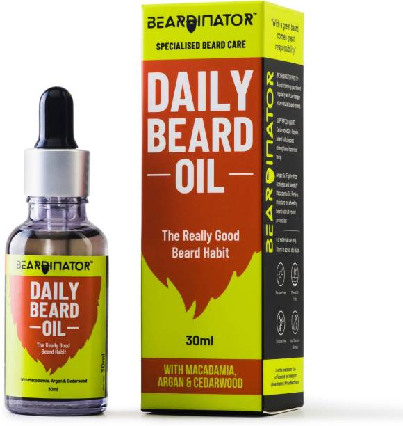 Beardinator Daily Beard Oil For Men Hair Oil
