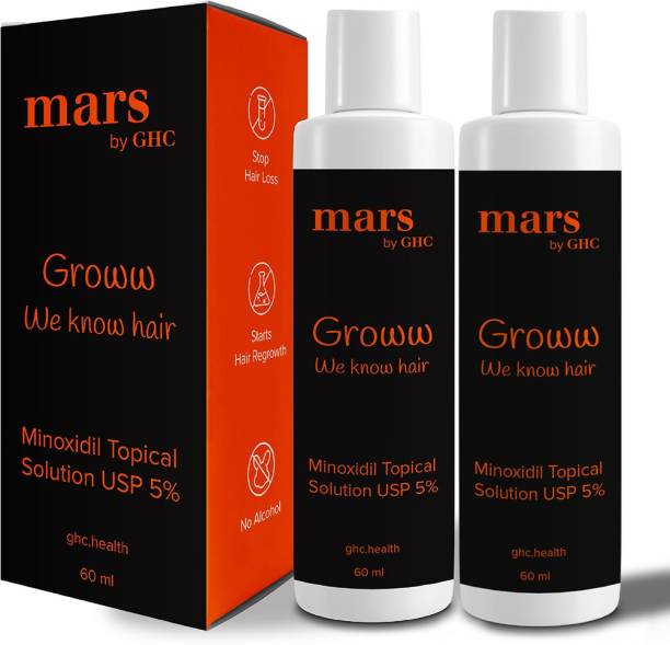 mars by GHC Minoxidil 5% Topical Solution for Hair (Pack of 2)