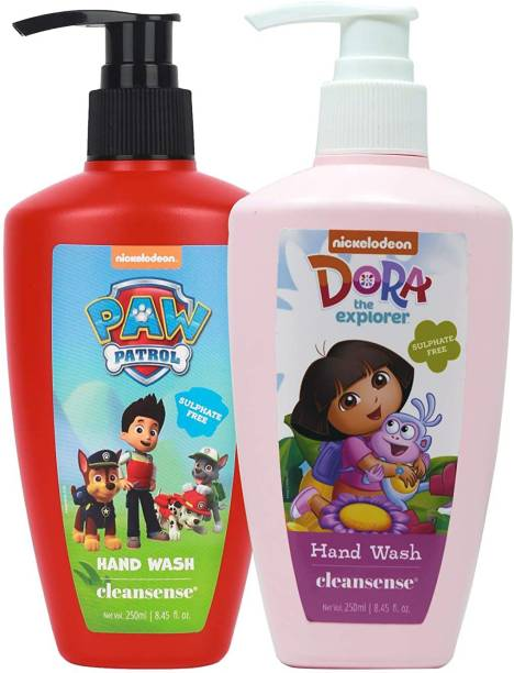 cleansense Premium Sulphate Free Dora and Paw Patrol Hand Wash with Natural Aloe & Neem Extracts, Hand Wash Pump Dispenser