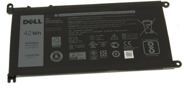 DELL Inspiron 15 5567 5570 5578 Inspiron 15 (5568) / 13 (5368 / 5378) 42Wh 3-cell Laptop Battery – WDX0R 3 Cell Laptop Battery