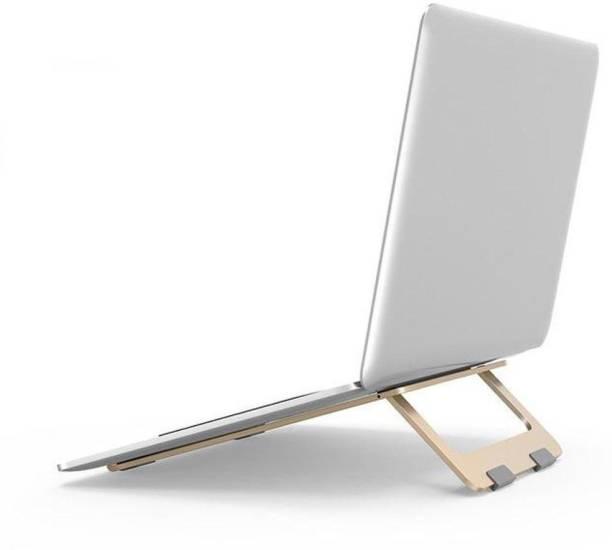 Oboe Aluminium Adjustable Laptop Stand Lightweight Portable Mini Laptop PC Tablet Holder Anti-Slip Design Mounting Bracket Laptop Stand
