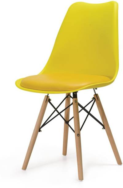 Deal Dhamaal Eames Replica Nordan Iconic Chair in Yellow Colour Plastic Living Room Chair