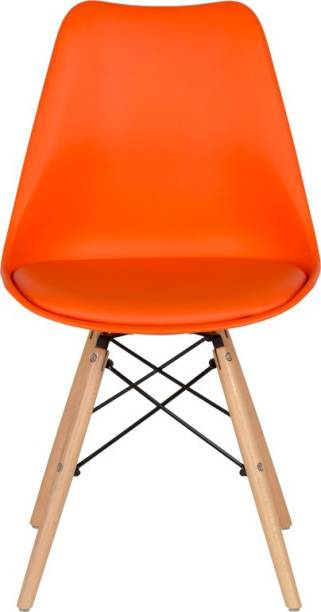 Deal Dhamaal Eames Replica Nordan Iconic Chair in Orange Colour Plastic Living Room Chair