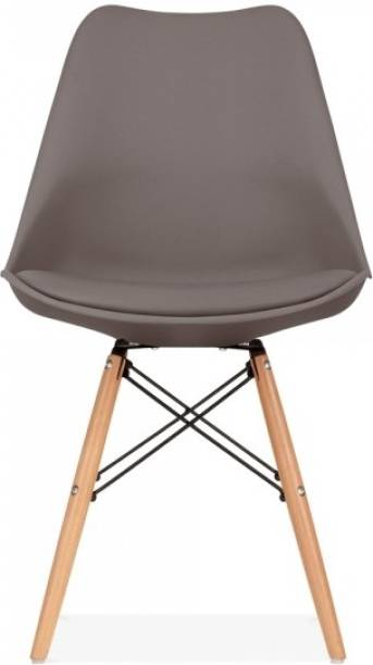 Deal Dhamaal Eames Replica Nordan Iconic Chair in Brown Colour Plastic Living Room Chair