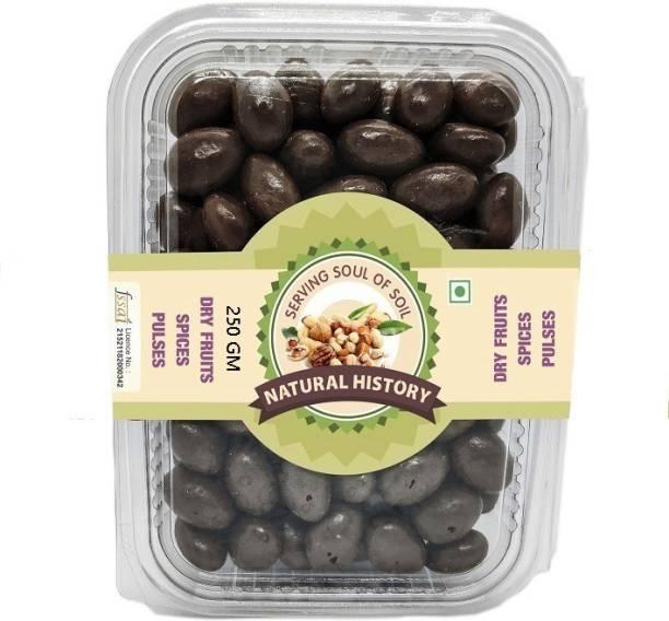natural history Brand-Almond Nutties ChoCo 250 GM Almonds