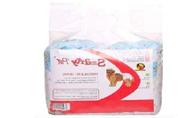 Kiki N Pooch Disposable Pet Diapers for Dogs (X-Xtra Large, 660mm X 400mm, 12 pcs) Disposable Dog Diapers