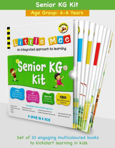 Little Mee Senior KG Kit | UKG Books | Preschool Learning For English, Maths, GK, Phonics, Rhymes, Stories, Colouring With Worksheets | 4 To 6 Years