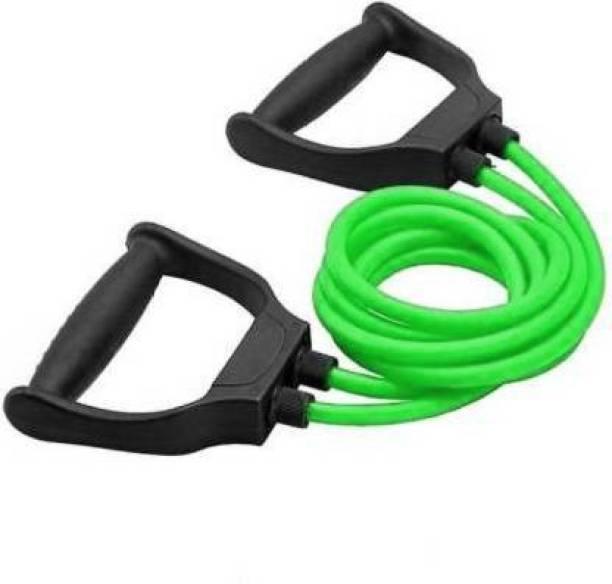 EMMKITZ Double Resistance Bands Toning Tube Exerciser with Resistance Tube (Green) Resistance Tube