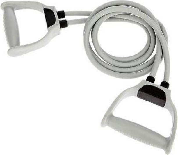 EMMKITZ Double Resistance Bands Toning Tube Exerciser with Resistance Tube (GreY)) Resistance Tube