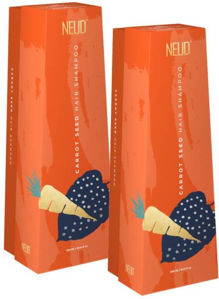 NEUD Carrot Seed Premium Shampoo for Men & Women - 2 Packs (300ml Each)