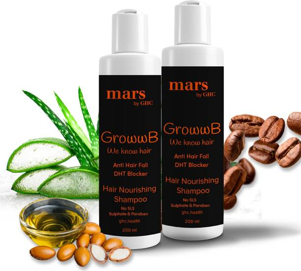 mars by GHC Anti Hair Fall DHT Blocker Shampoo for Men (Pack of 2)