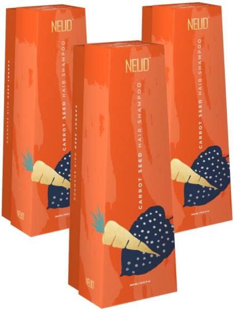 NEUD Carrot Seed Premium Shampoo for Men & Women - 3 Packs (300ml Each)